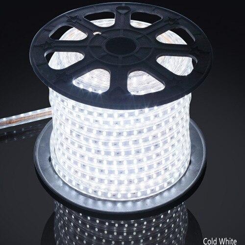 AC 110 V 220 V RGB 5050 bande de LED Flexible étanche + pulg, 60 LED s/m LED éclairage dimmable, usine fournir une bonne qualité