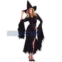 Women Adult Sexy Queen Of Witch Black Ladies Fancy Dress Halloween For Women Cosplay Costume Outfit