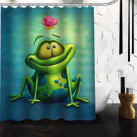 Custom Waterproof Fabric Bathroom Shower Curtain Frog 60 W X 72 H 48 W X 72