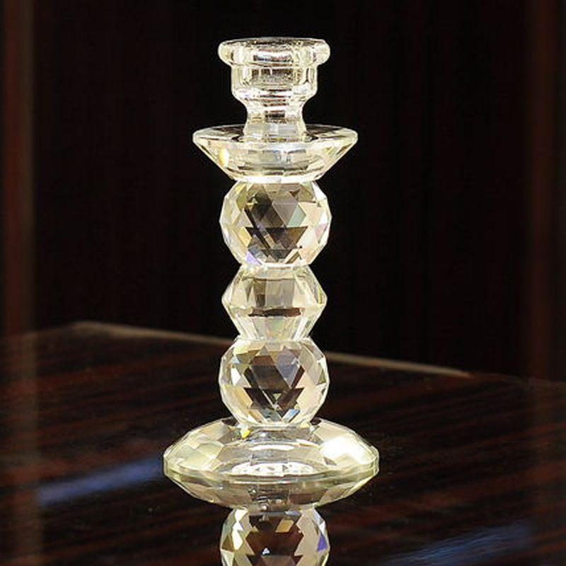 luxury Crystal candle holders glass Cylinder votive candle holder candlestick crystal candelabra candelabra wedding decoration in Candle Holders from Home Garden