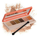 1pc Popular Eyeshadow 6 Color Eyeshadow  Eyebrow Powder Palette Color Rich Eye Makeup With 1 Brushes cosmetics 4 kinds of color