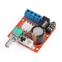 5 PCS/LOT DC 12V Audio Control Module 10W+10W Class D Dual-Channel Amplifier for Desktop /Home Theater Amplifier etc