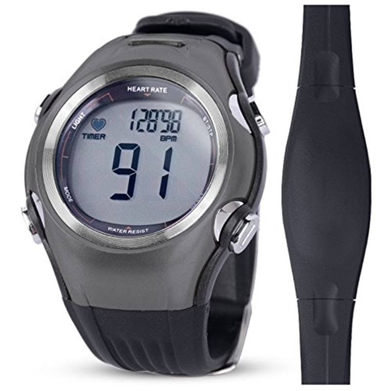 Heart Rate Monitor Men Sports Polar Watches Waterproof Digital Wireless Running Cycling Chest Strap Women Sports Watch Orange