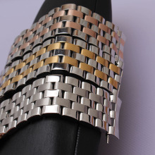 New high quality watchbands silver and mixed color gold rosegold 16mm 18mm 20 22 24mm watches Straps Bracelets fit wristwatches