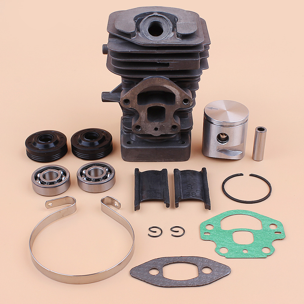 39MM Cylinder Piston Bearing Oil Seal Rebuild Kit Fit HUSQVARNA 240 236 235 236E 240E Gas Chainsaw Engine Spare Parts 545050417