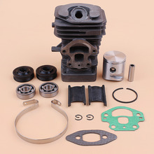 39MM Cylinder Piston Bearing Oil Seal Rebuild Kit Fit HUSQVARNA 240 236 235 236E 240E Gas Chainsaw Engine Spare Parts 545050417 crankcase crankshaft bearing cylinder starter engine motor rebuild kit fit husqvarna 362 365 371 372 50mm chainsaw spare parts
