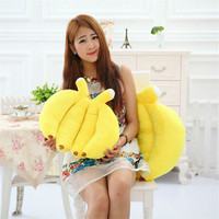 Creative Fruit Plush Pillow New Soft Novelty Simulation Large Yellow Banana Plush Stuffed Pillow Cushion Toy