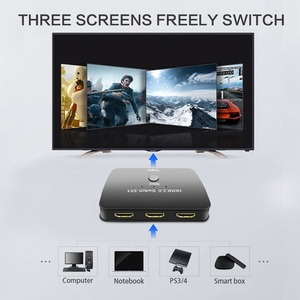Image 3 - HDMI Switch 3X1, atolla 3 Port HDMI Switcher 2.0 Selector 4K Switch Box High Resolution Video, High Speed 3D HDMI Port Adapter