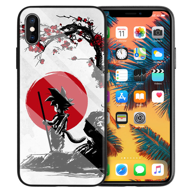 Dragon Ball Z Tempered Glass Hard Case for iPhone Models