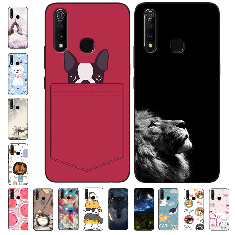 6.53'' For vivo Z1 Pro Case Silicone Soft TPU Cute Back Covers For vivo Z1Pro Case vivoz1 pro Phone Cases Z 1 Pro 2019 Cartoon