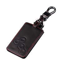 remote key Stylish Genuine Leather 4 Buttons Car Remote Key Cover Case for Renault  Koleos (2)