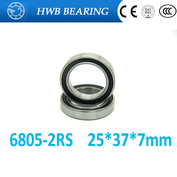 Free shipping <font><b>6805</b></font>-2RS 25x37x7mm Metric Thin Section Bearings 61805RS <font><b>6805</b></font> <font><b>RS</b></font> 25*37*7mm for bicycle part bearing image