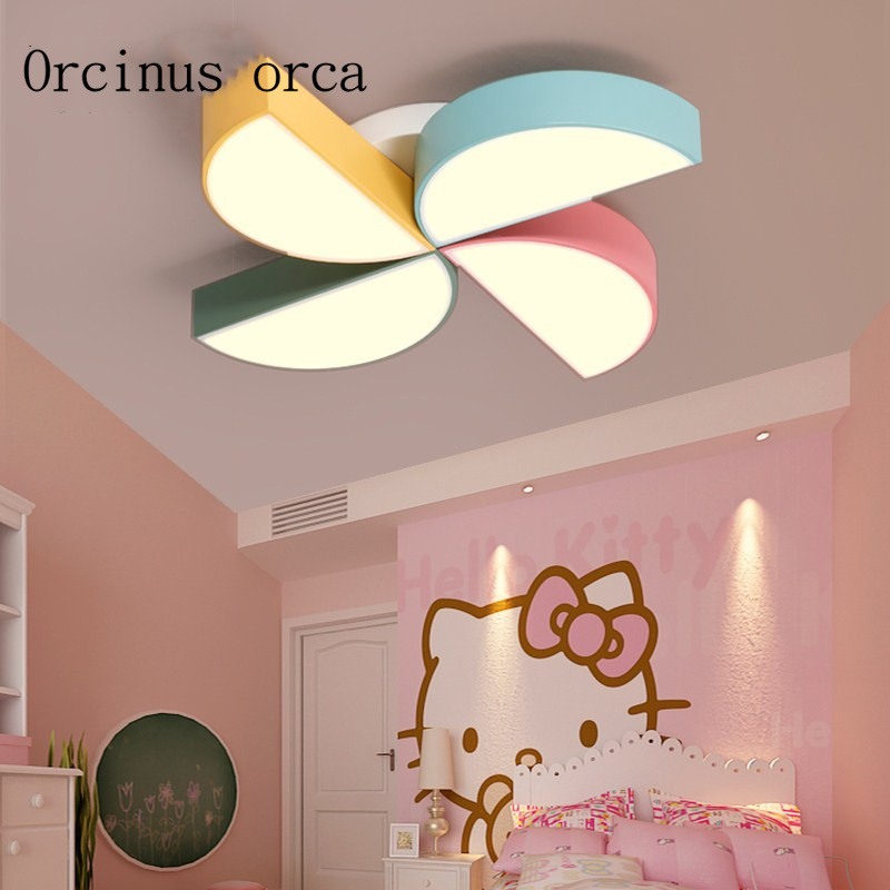 US $148.0 |Creative cartoon color windmill chandelier children\'s room boys  and girls bedroom lights eye care LED ceiling lamps-in Ceiling Lights from  ...