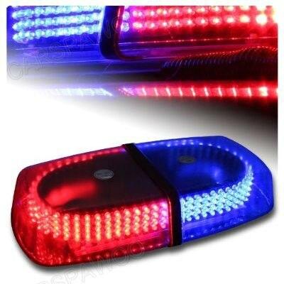 12v Red/Blue 7-patterns Emergency Warning 240 Car Truck  LED Strobe Warning Light Flashing