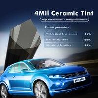 20x10ft/0.5x3m 4mil/0.1mm 35%VLT Black Car Glass Scratch resistant Nano Ceramic Window Tint Film Vinyl Car Solar Film