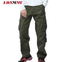LONMMY Plus größe 40 hosen mens cargo hosen military stil seite zipper  baumwolle Multi tasche hosen 4a514d8ac2