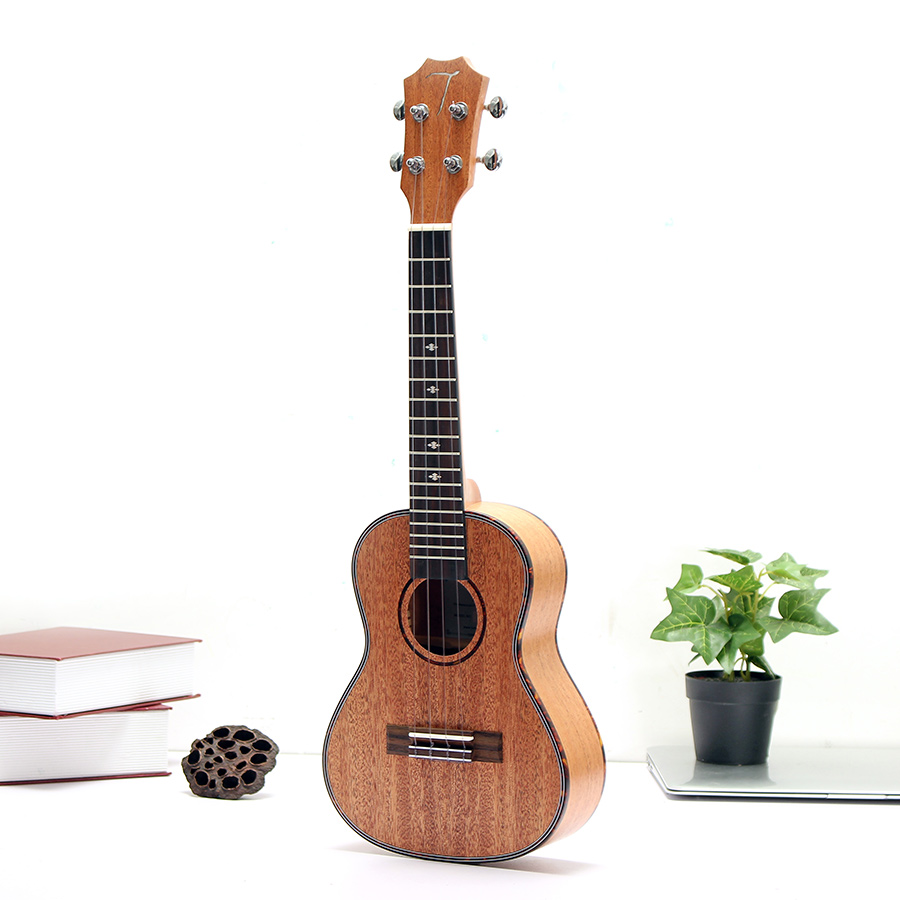 23 Inch Ukulele Mahogany Rose Wood Hawaiian 4 Strings Guitar With Gig Bag Uke 12mm waterproof soprano concert ukulele bag case backpack 23 24 26 inch ukelele beige mini guitar accessories gig pu leather