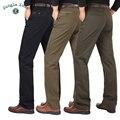 SELVA ZONA de outono e inverno dos homens de negócios casuais calças de cintura reta calças de algodão grosso calças dos homens da marca