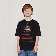 Brand T-shirt2019 Summer New INS Letter Printing Boy Oversize Short-sleeved T-shirt Kid Cotton Loose Street Style