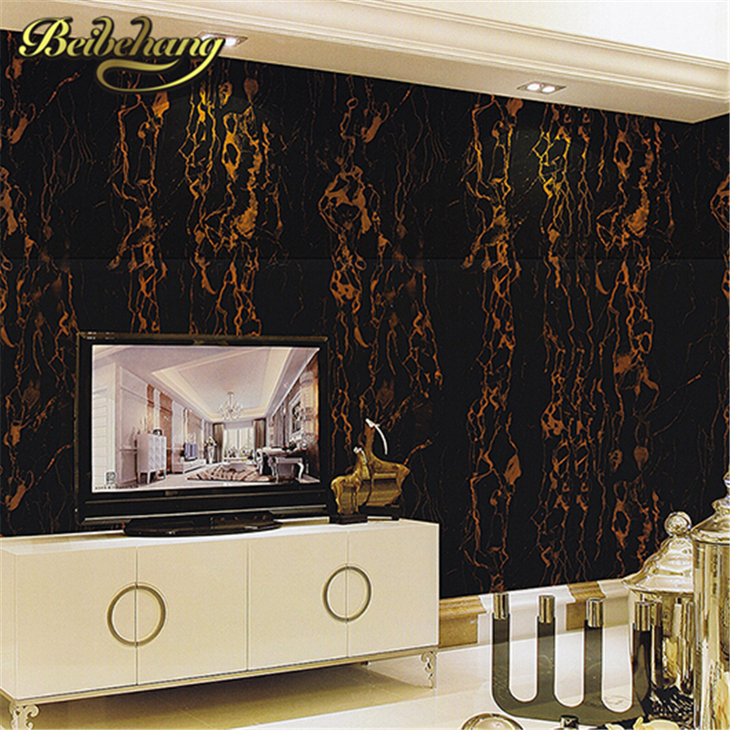 beibehang Pvc wallpaper marble design wallcovering simple modern wall paper grey papel de parede for living room TV background wallpaper for walls 3 d modern trdimensional geometry 4d tv background wall paper roll silver gray wallpapers for living room