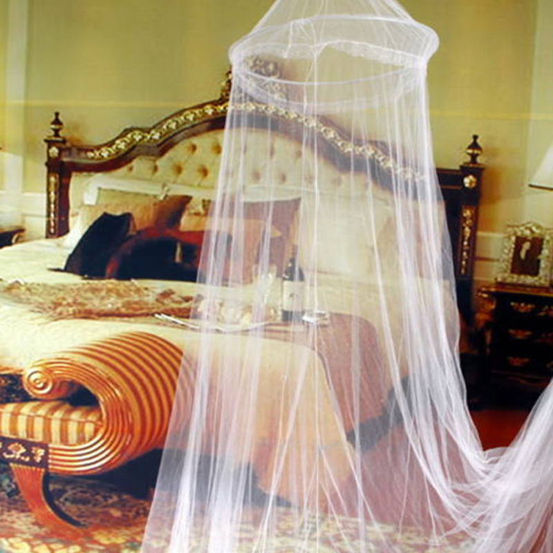 Lace Canopy Bed Curtain Dome Fly Midges Insect Cot Stopping Mosquito Net Set New