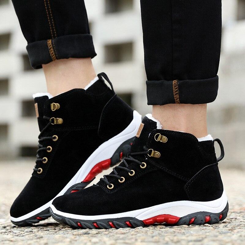 slip 44 Dentelle Velours Black Neige Non De Backcamel Chaussures 39 Hiver Casual Hommes Chaud Taille Plat Bottes brown Pour Coton z8TwCnAqnf