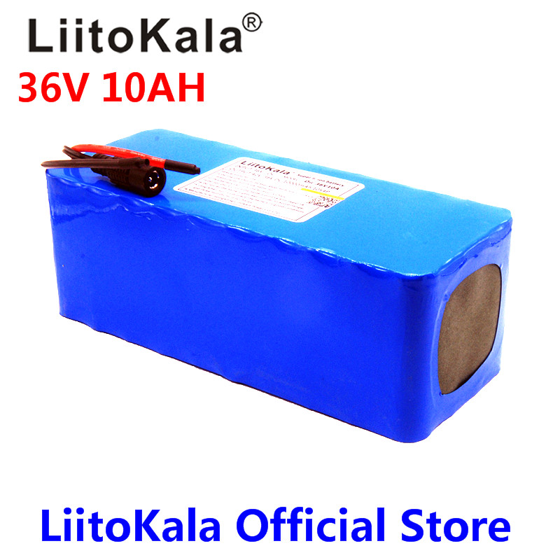 LiitoKala 36V 10ah 500W 18650 lithium battery 36V 8AH Electric bike battery with PVC case for electric bicycle 2015 newest dolphin type electric bike battery 36v 10ah with usb port for 36v lithium battery