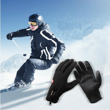 Man Winter Ski sport waterproof gloves touch screen men ski and riding snowboard Motorcycle