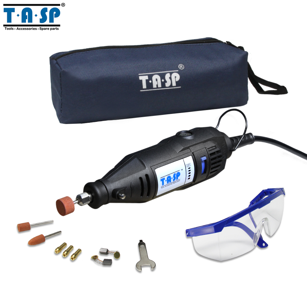 TASP 220V 130W Electric Mini Drill Grinder Rotary Engraver Tool Set with Safety Glasses and AccessoriesTASP 220V 130W Electric Mini Drill Grinder Rotary Engraver Tool Set with Safety Glasses and Accessories