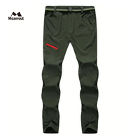 MAZEROUT Man New Summer Fishing Outdoor Pant Hiking trousers Men Trekking Camping Quick dry Travel Cycling Belt Plus Size P32