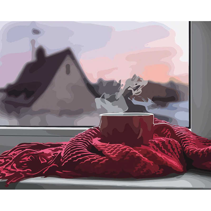 Frameless picture paint on canvas diy digital oil painting by numbers drawing home decor craft Modern Abstract Oil Painting