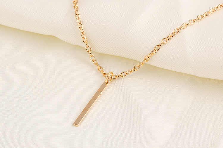 Hot sprzedaży klasyczne proste wysokiej tekstury flash metal złoty kolorowy naszyjnik kobiet łańcuch ze stopu naszyjnik moda prezent