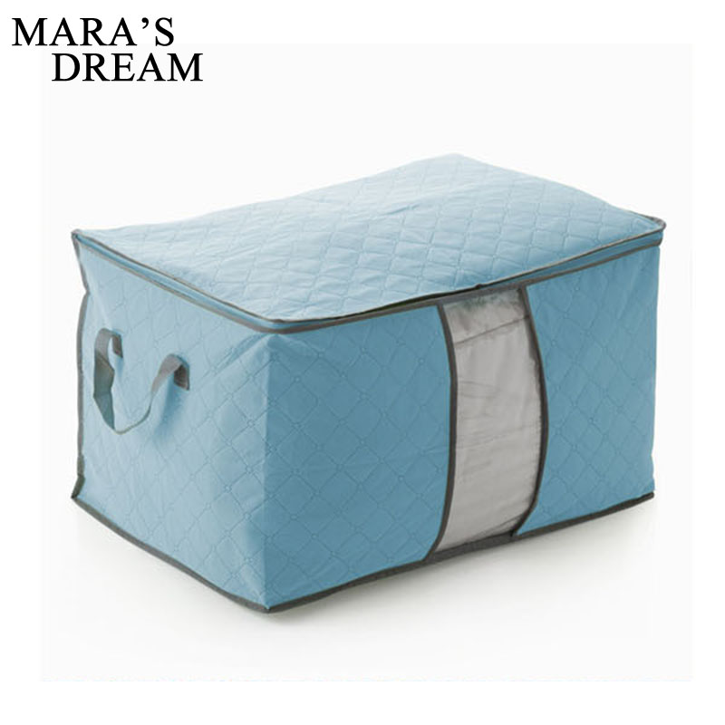 Mara's Dream New Bamboo Charcoal Luggage Bags Home Dust-proof Bag Foldable Clothes Quilts Bag Large Capacity Zippered Bags