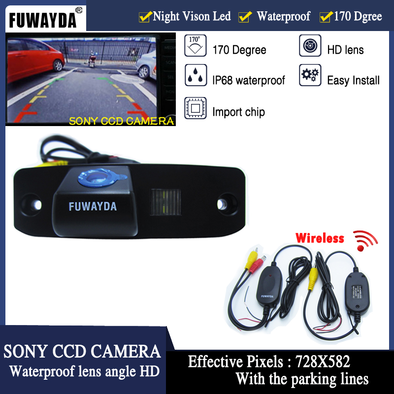 FUWAYDA Wireless SONY CCD Car Rear View Reverse Parking Safety Backup CAMERA for CHRYSLER 300/300C/SRT8/MAGNUM/SEBRING HD