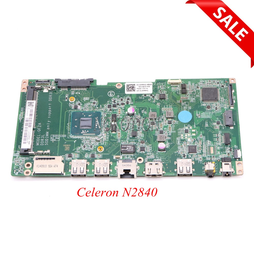 NOKOTION DAQF2AMB6A0 8TF4X 08TF4X CN-08TF4X Main board For Dell Inspiron All In One 20 3043 Laptop Motherboard Celeron N2840 for dell motherboard inspiron one 2310 system board dp n xgmd0