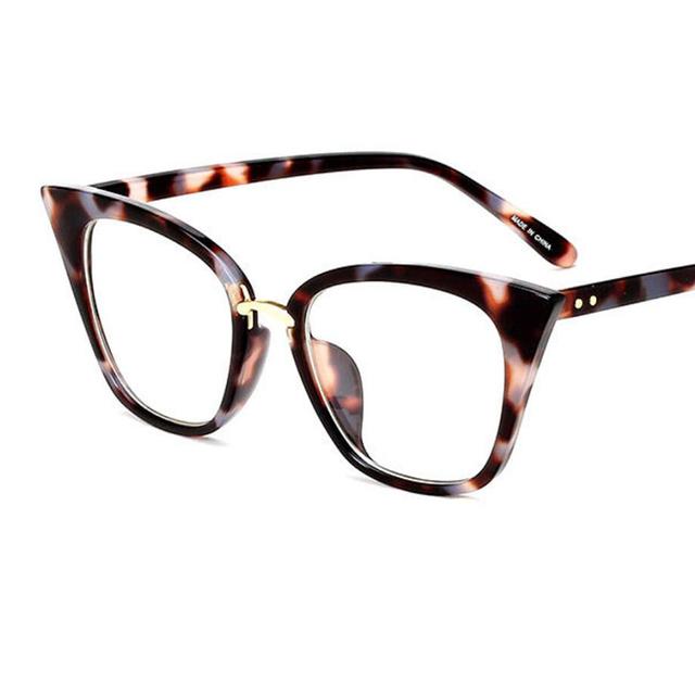 Transparent Cat Eye Clear Lens Retro Eyeglass