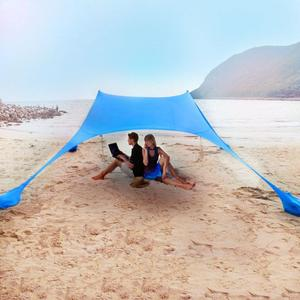 Image 3 - Portable Sunscreen Sand Free Beach Tent 210X210 Sunshade Anti UV Gazebo Sun Shade UV Protection Sun Shelter Rainproof Awning
