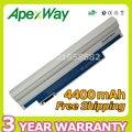 Apexway Белый Аккумулятор Для Ноутбука Acer Aspire one D255 D257 D260 D270 522 722 AO522 AOD255 AOD257 AOD260 AL10A31 AL10B31 AC700