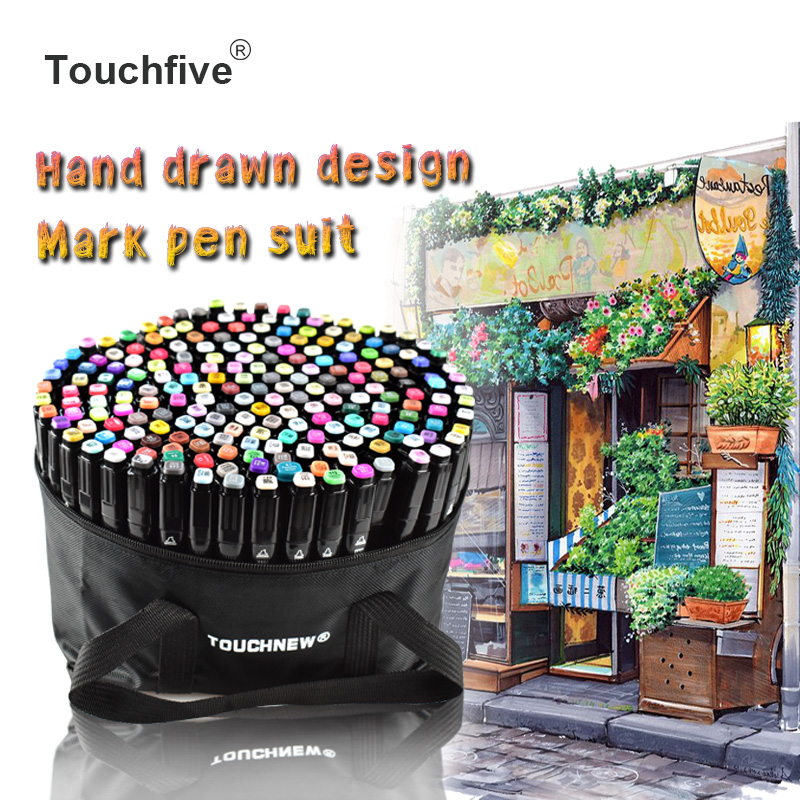 TouchFIVE Marker Pen 30/40/60/80/168 Colors Art Markers Set Double Head Artist Sketch Oily Pen Manga Pen Painting Set