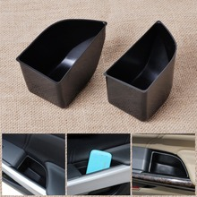 2Pcs Black New Car Front Door Armrest Secondary Storage Box Container Holder For Honda Accord 2008 2009 2010 2011 2012
