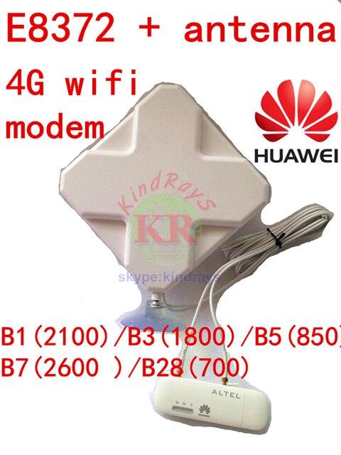 Unlocked Huawei E8372 + 4g antenna 4G usb wifi modem 4g usb wifi stick dongle 3g 4g car cpe pk e8278 E8372h-608 e8372s e8377