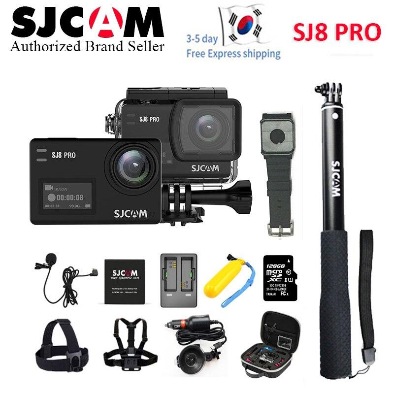En Stock! SJCAM SJ8 Pro 1290 P 4 K 60fps WiFi télécommande Anti-secousse double écran tactile casque sport DV Action caméra plus d'accessoires