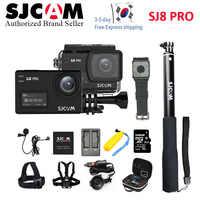 SJCAM SJ8 Air & SJ8 Plus & SJ8 Pro 1296P 4K cámara de acción remota subacuática SJ CAM 8 Pro pantalla táctil Cámara deportiva DV