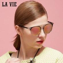 LA VIE Polarized New Design Fashion  Women Sunglasses Round Lenses Coating Female Sun Glasses Oculos De Sol Gafas De Sol LVA294
