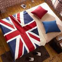 Nuevo Reino Unido Bandera de EE. UU. sofá súper suave TV manta de viaje manta de lana de cordero manta de felpa para sofá 130x160 cm