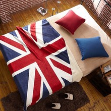 130x160cm The British union jack American flag lambs wool double blanket office nap in the fall and winter of sofa