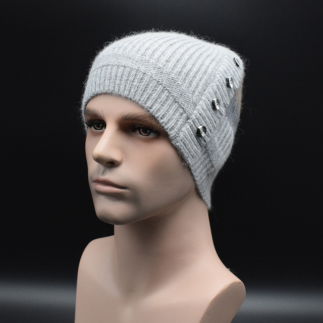 2e60153ad74ac 2017 New Fashion Man s Winter Warm Hat For Man Skullies Beanies Knitted Hat  casual brand high