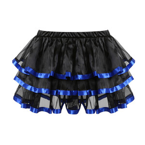 Image 5 - גותי כחול מחוכי שמלה עם חצאית תחפושות בציר פסים פרחוני תחרה עד overbust מחוך bustier לנשים בגדי ריקוד