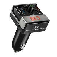 Car Charger Wireless BT Handsfree Call Car MP3 Player FM Transmitter LED Display Dual USB Ports Support 3.5mm TF Card U Disk