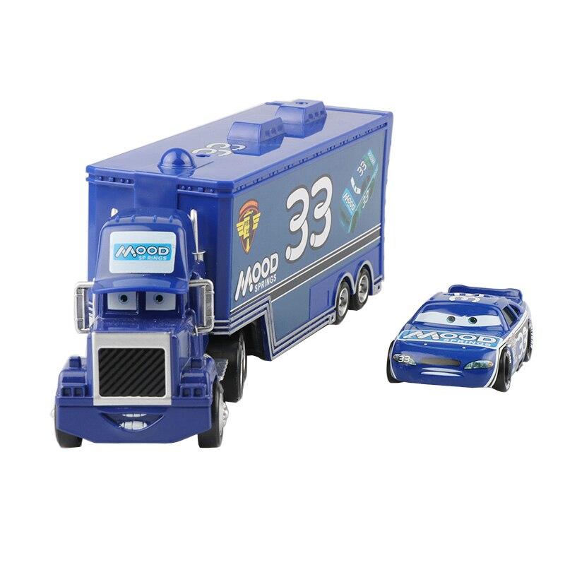 Дисней Pixar Тачки 2 3 игрушки Молния Маккуин Джексон шторм мак грузовик 1:55 литая модель автомобиля игрушка детский подарок на день рождения - Цвет: Two cars E